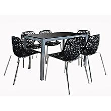 Ensemble Table U0026amp; 6 Chaises   Noir