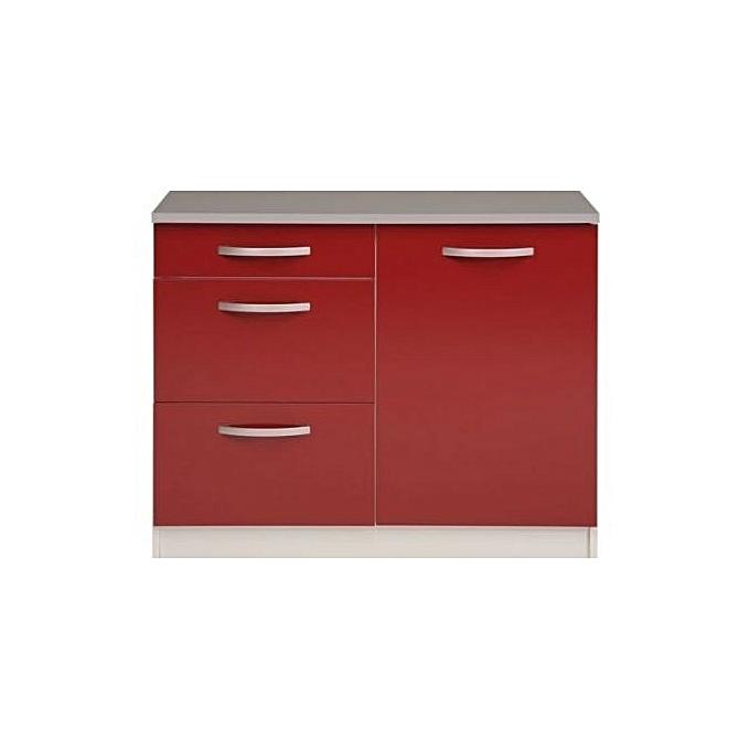 meuble de cuisine element de rangement rouge meubles de cuisine pas cher sur jumia tunisie. Black Bedroom Furniture Sets. Home Design Ideas