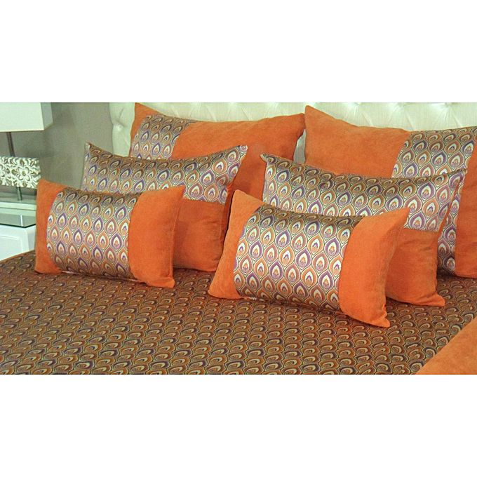 couvre lit smart orange parures de lit pas cher sur jumia tunisie. Black Bedroom Furniture Sets. Home Design Ideas