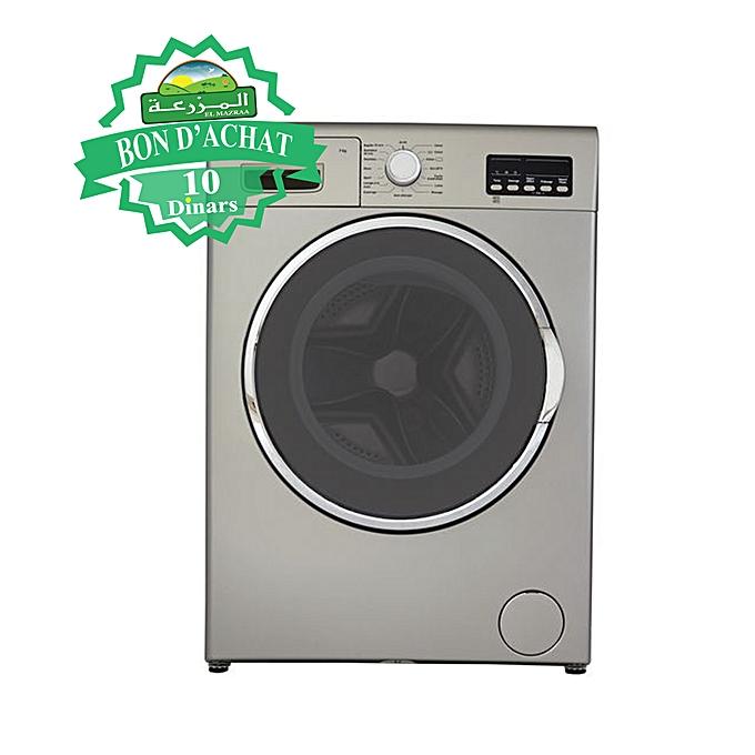 machine laver 7kg gris garantie 2 ans bon d 39 achat mazraa 10dt lectrom nager pas. Black Bedroom Furniture Sets. Home Design Ideas
