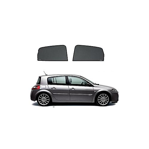 white label rideaux sur mesure pour voiture renault megane 2 casquette 2 vitres avant pas cher. Black Bedroom Furniture Sets. Home Design Ideas