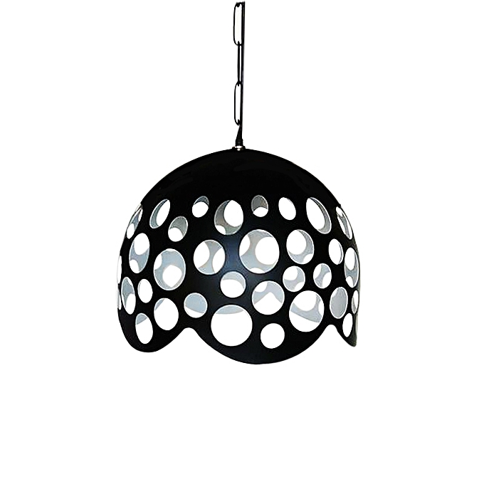 Suspension m tallique moderne noir pendant pas cher for Suspension moderne noir