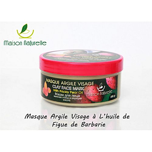 masque argile visage a l 39 huile de figue de barbarie 300gr soins du visage pas cher sur jumia. Black Bedroom Furniture Sets. Home Design Ideas