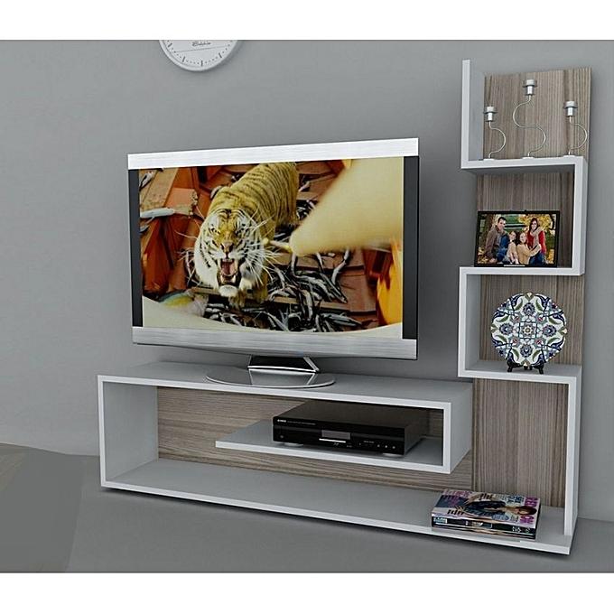 meuble tv zigzag mdf stratifi pas cher jumia tn. Black Bedroom Furniture Sets. Home Design Ideas