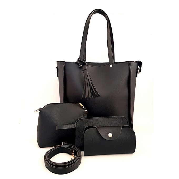 Pack quatro sac à main - Sac + Pochette avec ceinture+porte monnaie +  Pochette cf4afbcd87d