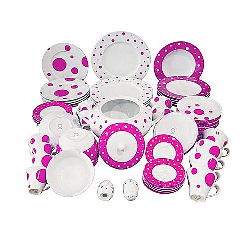 870e8497f4af White Label Service À Table - 58 Pièces Porcelaine La Rose De Sable ...