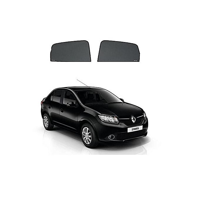 white label rideaux sur mesure pour voiture renault symbol 2016 2 vitres avant pas cher black. Black Bedroom Furniture Sets. Home Design Ideas