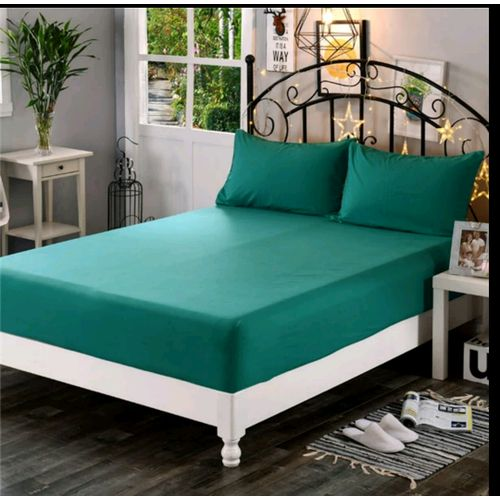 drap housse 2 taies d 39 oreillers 190 160 70 50 cm bleu vert acheter en ligne jumia. Black Bedroom Furniture Sets. Home Design Ideas