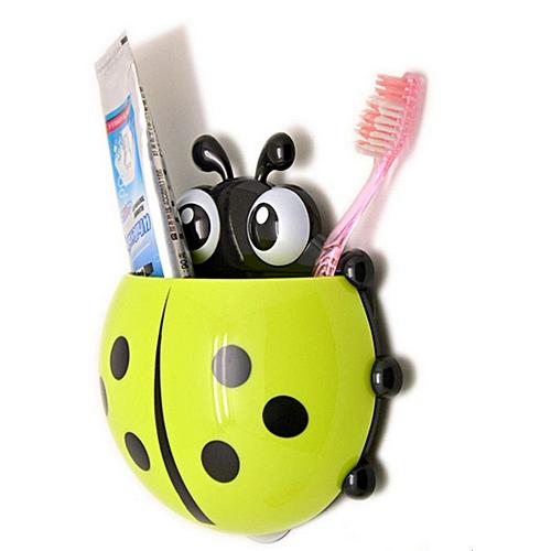 White label porte brosses dents forme de coccinelle support rangement ventouse d coration de - Porte brosse a dent ventouse ...