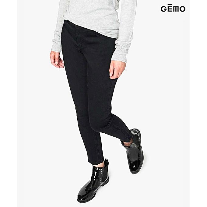 faa6c789f1195 Gémo Jeans Skinny 7/8E Effet Push Up - Noir à prix pas cher | Jumia ...