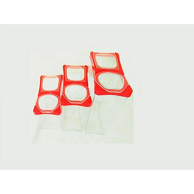 lot de 3 boites de stockage plastiques herm tiques. Black Bedroom Furniture Sets. Home Design Ideas