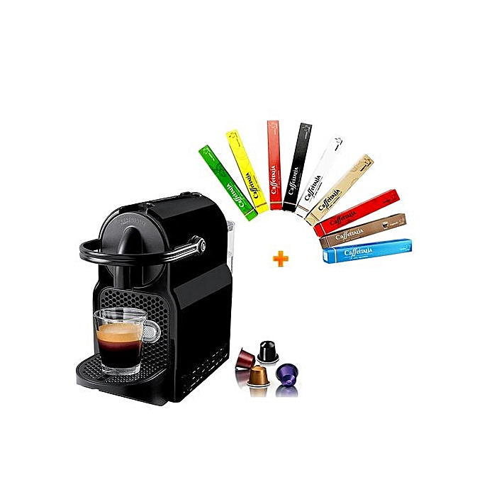 pack machine caf nespresso capsule inissia 100 capsules 9 parfums lectrom nager pas. Black Bedroom Furniture Sets. Home Design Ideas