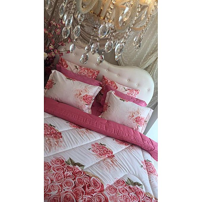 couette imprim e double face rose acheter en ligne jumia tunisie. Black Bedroom Furniture Sets. Home Design Ideas