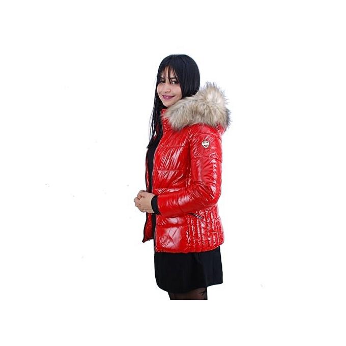 Vog Black Rouge 106907 Doudoune Cher Pas Femme Label White HSnZOX7