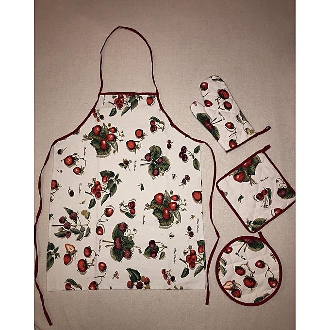 Ensemble de cuisine cerise rouge 21pcs tabliers pas - Arts de la table pas cher ...