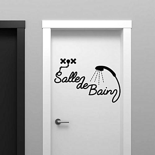 White Label Sticker Salle De Bain Silhouette - Noire à prix pas cher ...