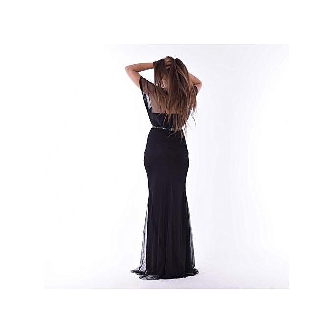 60ecc65883c White Label Robe avec strass – Noir - Angel à prix pas cher