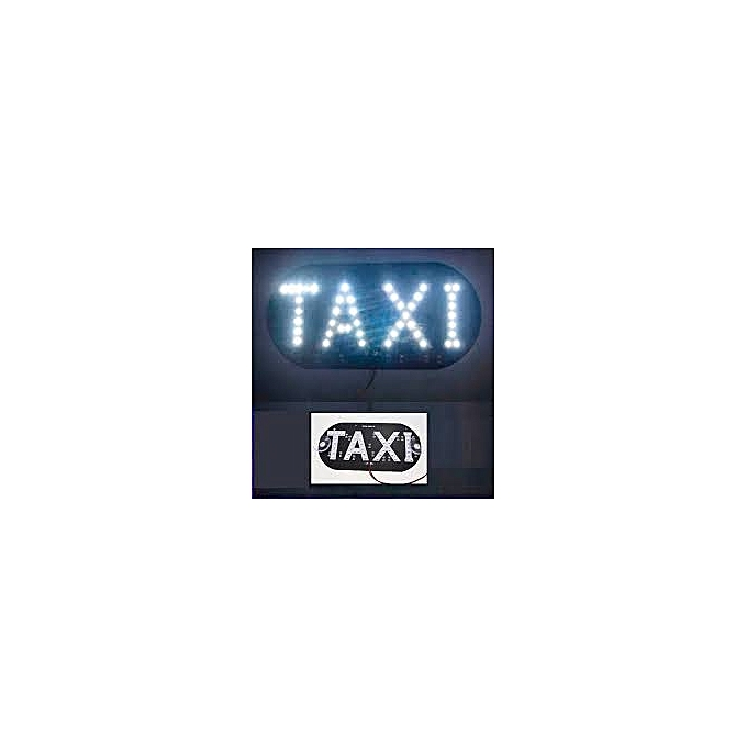white label plaque lumineuse taxi blanc pas cher jumia tn. Black Bedroom Furniture Sets. Home Design Ideas