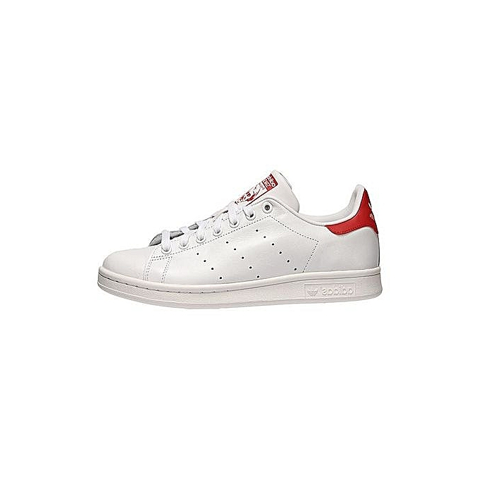 5f38e6f05fda Adidas Stan Smith - Homme - Blanc   Rouge - M20326 à prix pas cher ...