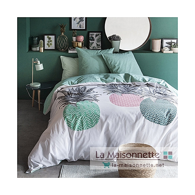 today housse de couette ananas king size 240 260cm 2 taies 63 63cm prix pas cher jumia tunisie. Black Bedroom Furniture Sets. Home Design Ideas