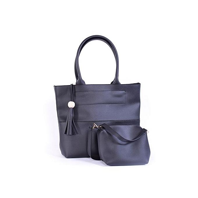White Label Pack grand sac maîtresse + pochette avec ceinture - Noir ... 0a637875b73