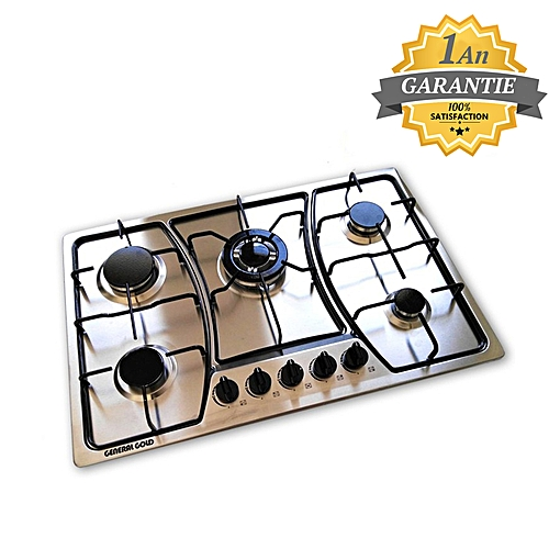 general gold plaque de cuisson 5 feux en inox garantie 1 an pas cher jumia tn. Black Bedroom Furniture Sets. Home Design Ideas
