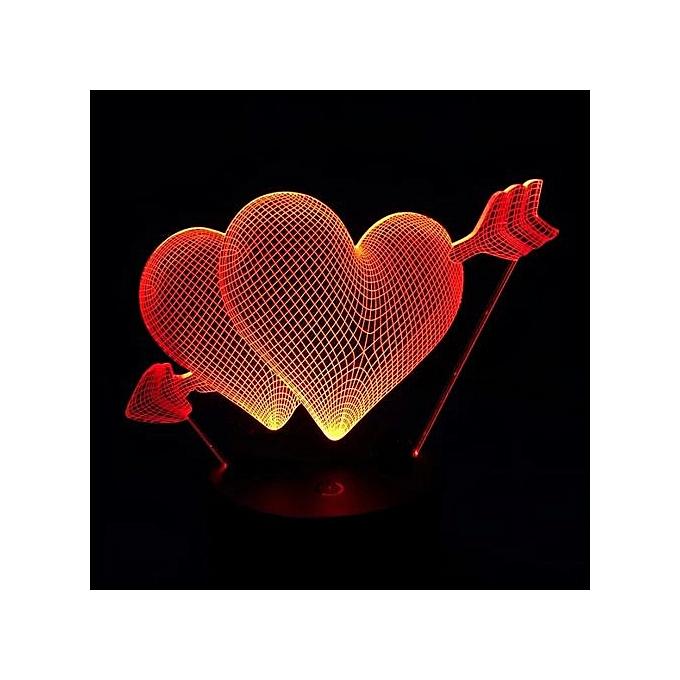 Lampe Couleurs W2dh9ei Valentin Cœur 3d Changeant 3 Led Love Saint 7YgIbyvf6