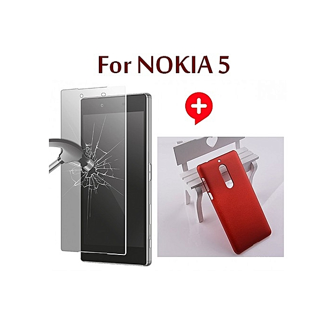 Pack etui en silicone rouge protection glass nokia 5 for Housse protection