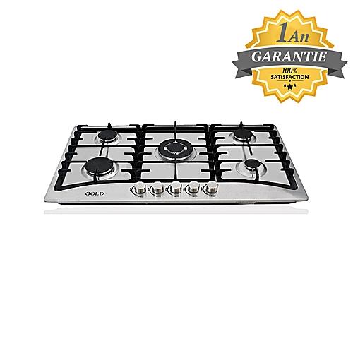 gold plaque 5 feux inox 8652 ss garantie 1 an pas cher black friday 2018 jumia tn. Black Bedroom Furniture Sets. Home Design Ideas