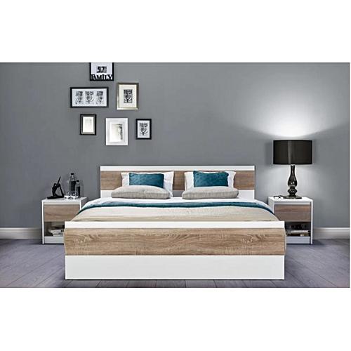 chambre patricia lit 2 t b n bois mdf blanc. Black Bedroom Furniture Sets. Home Design Ideas