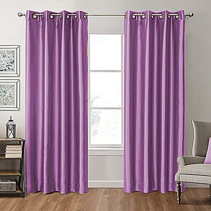 rideau satin effet black out violet 3m jumia tunisie. Black Bedroom Furniture Sets. Home Design Ideas
