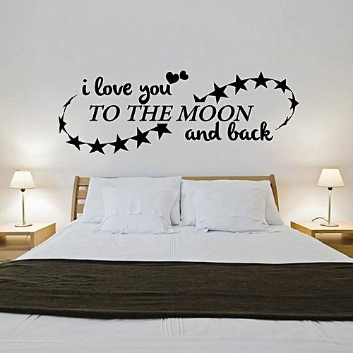 white label sticker chambre a coucher noir pas cher