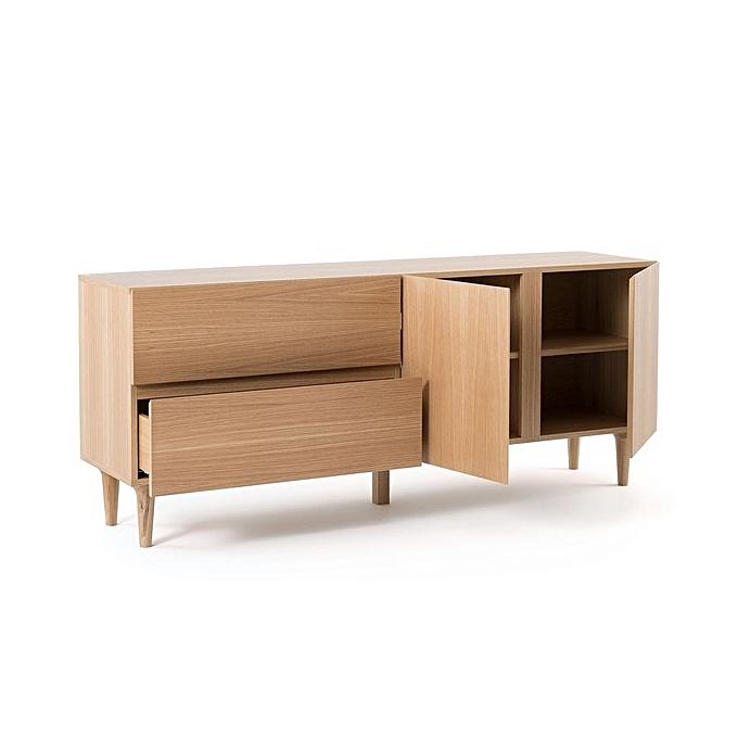 buffet chitsa mdf stratifi bois h 75cm x l 120cm x p. Black Bedroom Furniture Sets. Home Design Ideas