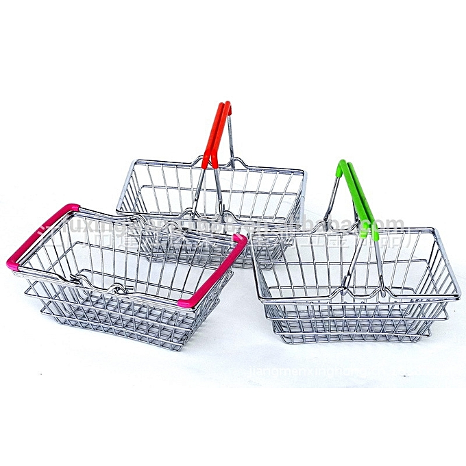 mini panier shopping hand basket vert ustensiles de. Black Bedroom Furniture Sets. Home Design Ideas