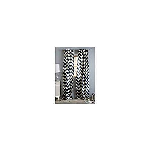 white label rideau pr t poser zig zag noir et blanc pas. Black Bedroom Furniture Sets. Home Design Ideas