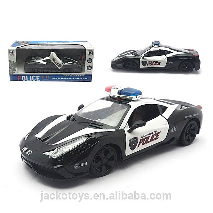 Voiture de police t l command 1 12 jouets enfant pas for Housse de voiture