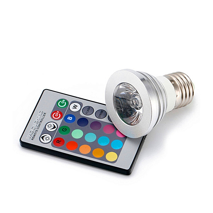 E V 16 Spot Rgb Couleurs 220 27 Lampe Avec Télécommande Led TlJ31FKc