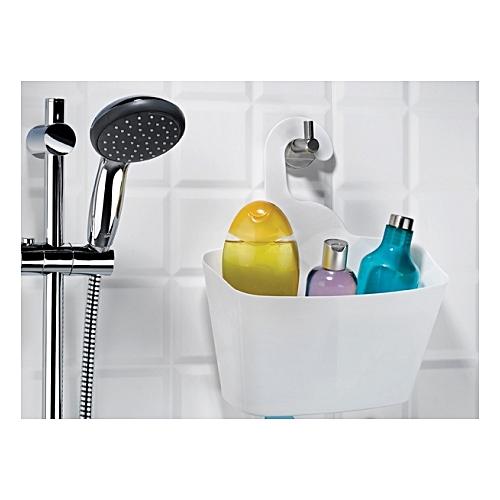 panier bain douche de rangement blanc portes douche. Black Bedroom Furniture Sets. Home Design Ideas