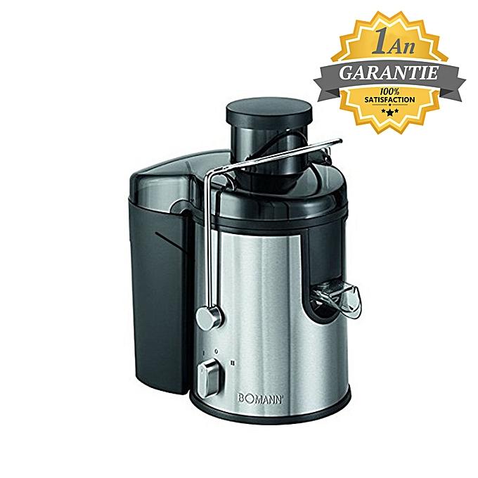 bomann centrifugeuse automatique extracteur de jus 400 w inox garantie 1 an prix pas. Black Bedroom Furniture Sets. Home Design Ideas