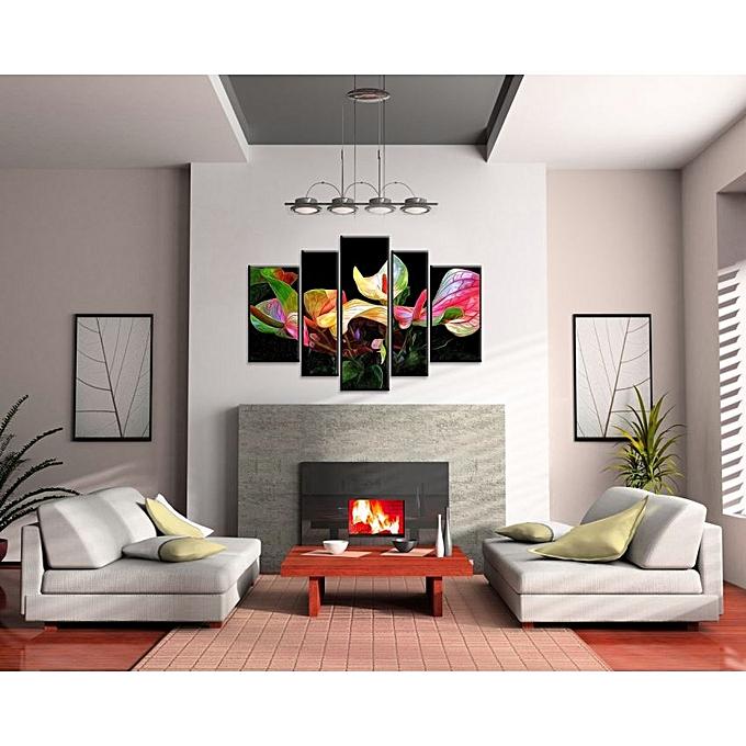 tableau en 5 bois mdf 120 80 cm cadres. Black Bedroom Furniture Sets. Home Design Ideas