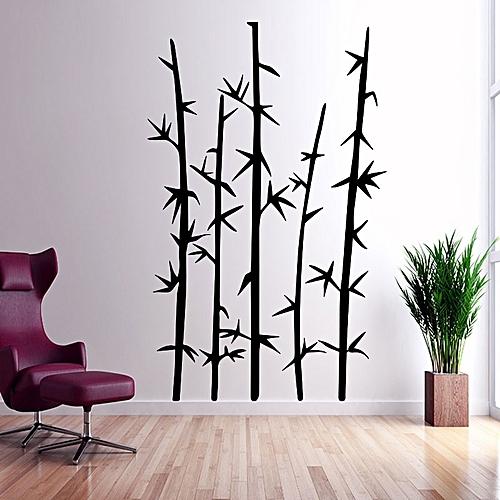 Sticker Mural Bambous   Noire   55*80 Cm