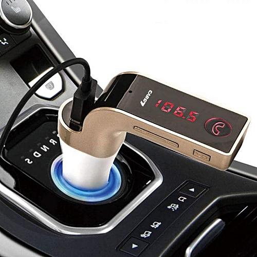 kit main libre voiture bluetooth chargeur usb gold autres pas cher sur jumia tunisie. Black Bedroom Furniture Sets. Home Design Ideas