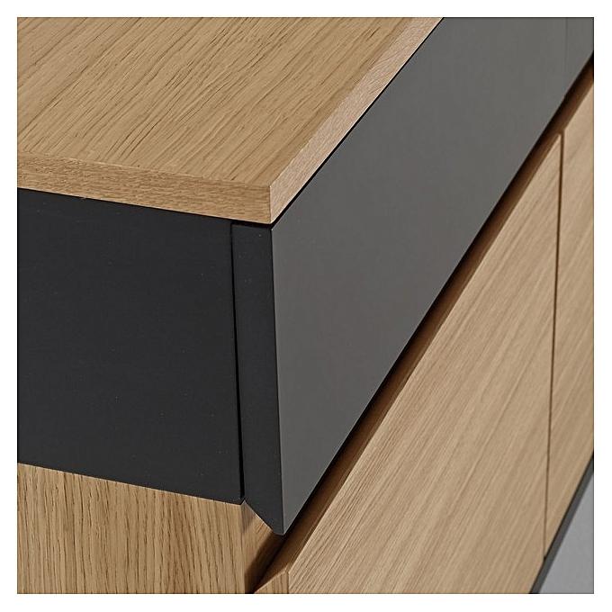 buffet chatan mdf stratifi bois h 75cm x l 180cm x p. Black Bedroom Furniture Sets. Home Design Ideas