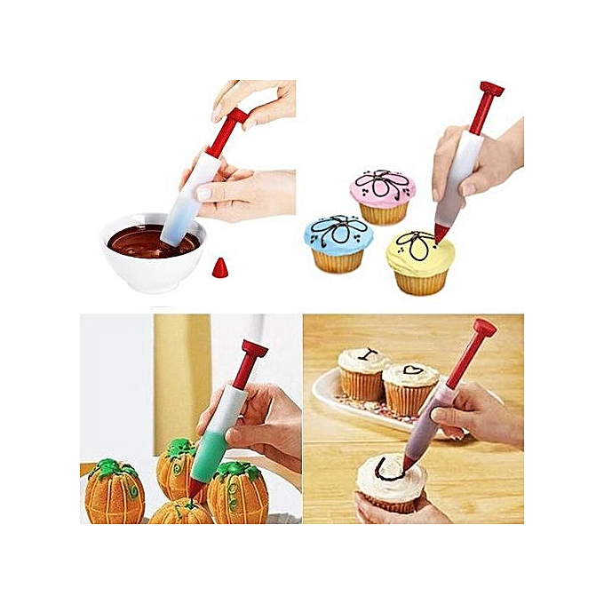 Seringue silicone de d coration ecriture pen g teau for Seringue de cuisine