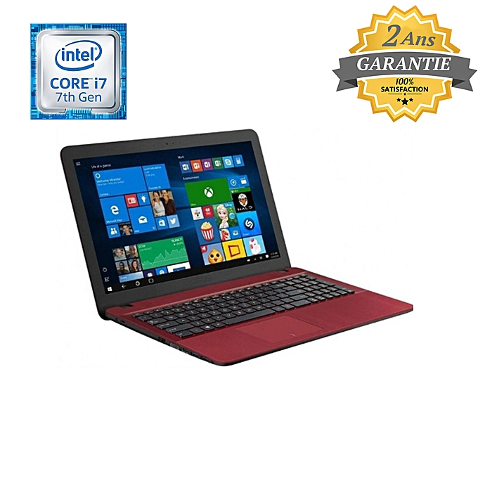 pc portable vivobook x541uv i7 7500u 8go 1to rouge garantie 2 ans notebooks pas. Black Bedroom Furniture Sets. Home Design Ideas
