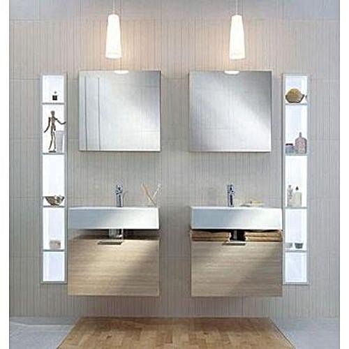 Meuble Salle De Bain - Twins - Blanc 50 Cm