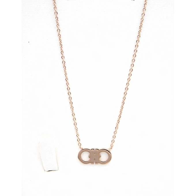 3f579ceec Collier - femme - Chic - Stainless steel - Rosé