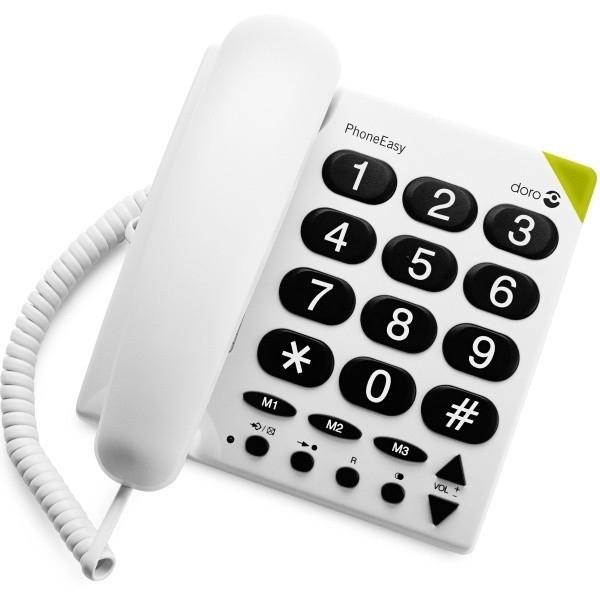 doro t l phone grosses touches blanc garantie 1 an its prix pas cher jumia tunisie. Black Bedroom Furniture Sets. Home Design Ideas