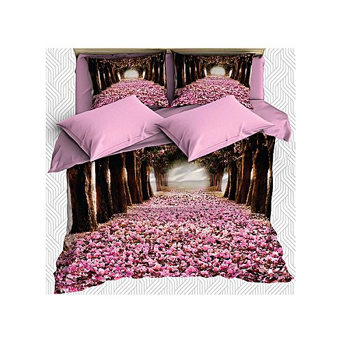 parure de lit 3d 6 pi ces foret rose jumia tunisie. Black Bedroom Furniture Sets. Home Design Ideas