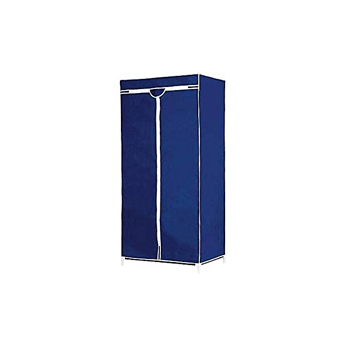 white label armoire penderie en tissu bleu 90x 45 x. Black Bedroom Furniture Sets. Home Design Ideas